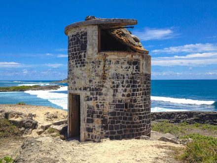 an old fort on ile-de-la-passe mauritius