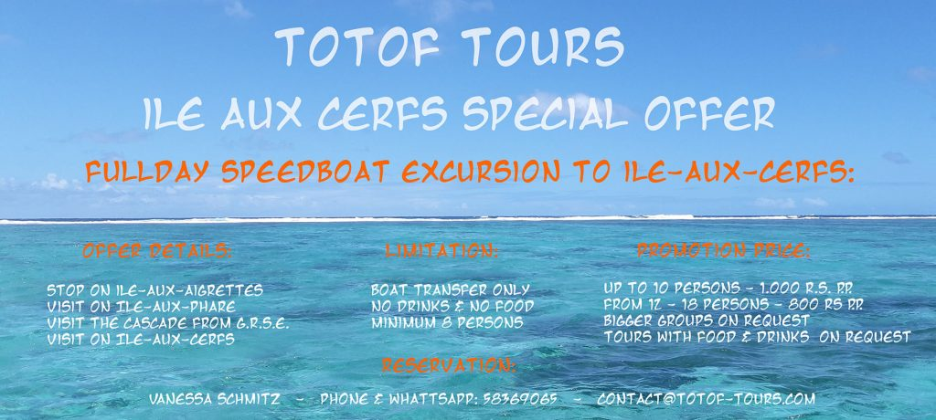 Speedboat Excursion to Ile Aux Cerfs Spcial Offer